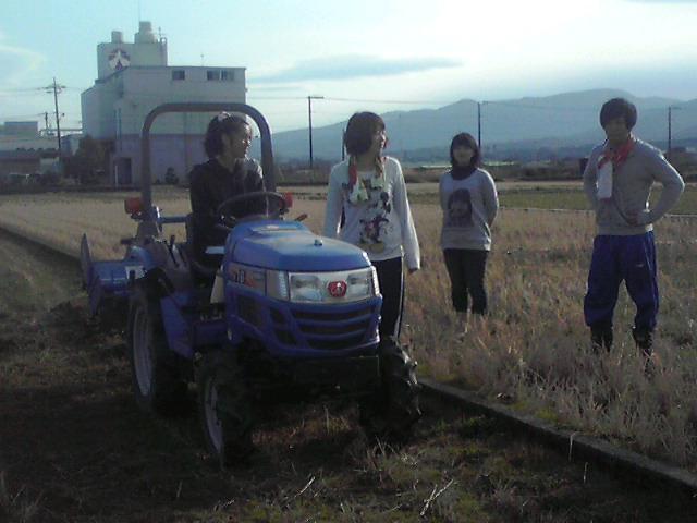 トラクターの耕運2